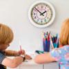 Easy Read Time Teacher Rainbow Face Wall Clock - 24 Hour - 29cm Diameter - ERTT-DIG