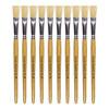 Hog Short Brushes: Flat Tip, Size 10 - Pack of 10