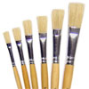 Hog Short Brushes: Flat Tip Mixed Set - Set of 6 - MB581-6