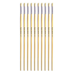 Hog Long Brushes: Round Tip, Size 4 - Pack of 10