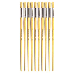 Hog Long Brushes: Round Tip, Size 12 - Pack of 10