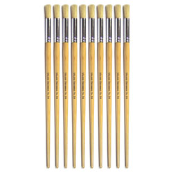 Hog Long Brushes: Round Tip, Size 14 - Pack of 10