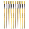 Hog Long Brushes: Round Tip, Size 18 - Pack of 10