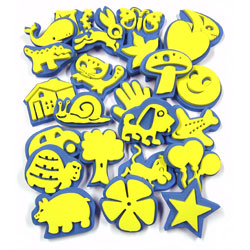 Crafty Foam Shape Stamps - Set of 24