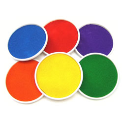 Giant Ink Pads - Mixed Colours Set of 6
