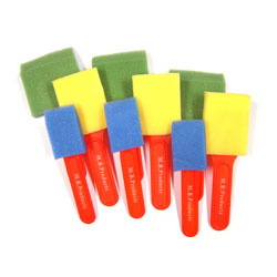 Assorted Foam Brushes - Set of 9