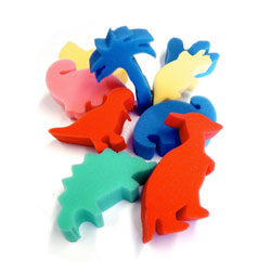 Foam Dinosaur Shapes - Set of 9