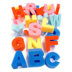 Foam Upper Case Letter Shapes - Set of 26