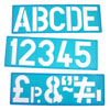 100mm Lettering Stencil Set - MB40000