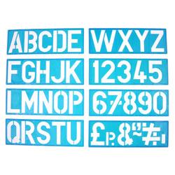 100mm Lettering Stencil Set