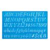 20mm Italic Lettering Stencil