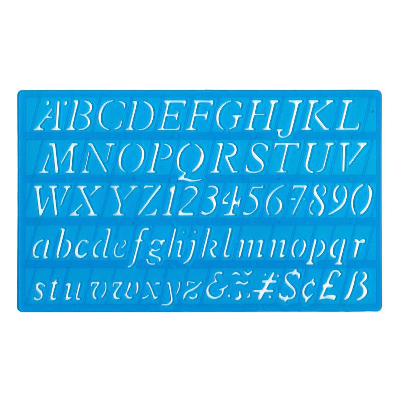 20mm Italic Lettering Stencil - MB40006