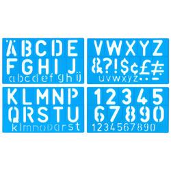 50mm Lettering Stencil Set