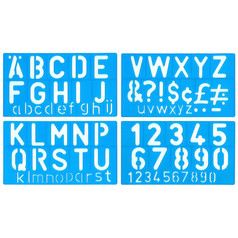 50mm Lettering Stencil Set - MB40002