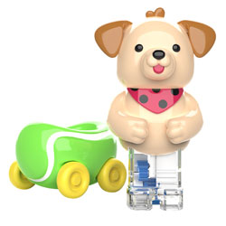 Zoomigos Puppy & Tennis Ball Car - by Educational Insights