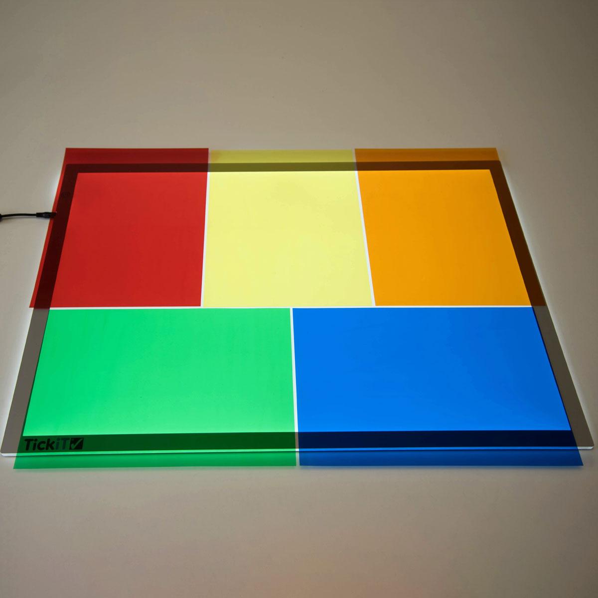 Acetate Colour Sheets - Set of 5