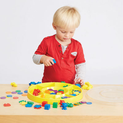 First Sorting Set - Sorting Tray with 132 Pieces - CD53841