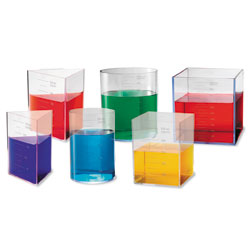 *Box Damaged* Litre Container Set - Set of 6 - by Learning Resources