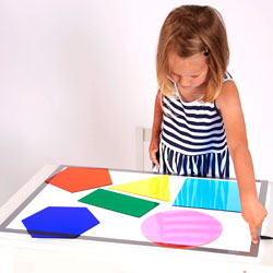 Jumbo Colour Mixing Shapes - Set of 6