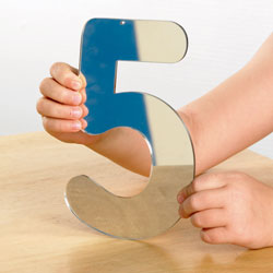 Mirror Numbers Large - 168mm - Set of 14