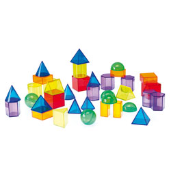 Translucent Geometric Shapes - Set of 36