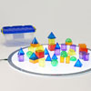 Translucent Geometric Shapes - Set of 36 - CD73075