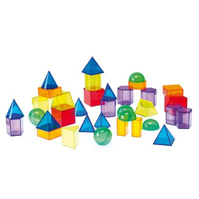 Translucent Geometric Shapes - Set of 36 - CD73075