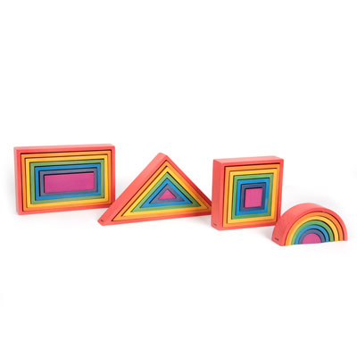 Rainbow Architect Set - Set of 28 Pieces - CD73420
