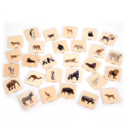 Wild Animal Family Match Tiles - Set of 28