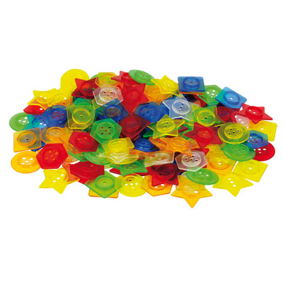 Translucent Stackable Buttons - Set of 144 with 12 Laces - CD73071