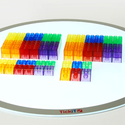 Translucent Colour Rainbow Module Blocks - Set of 90 - CD73081