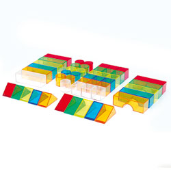 Translucent Colour Blocks - Set of 50
