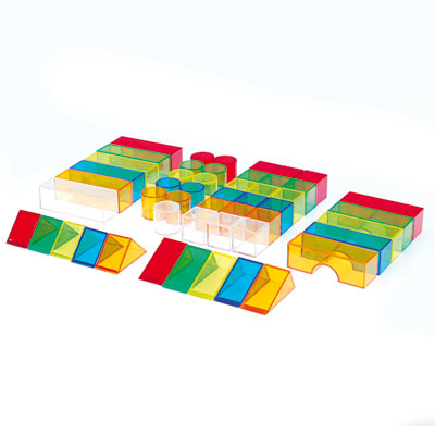 Translucent Colour Blocks - Set of 50 - CD73083