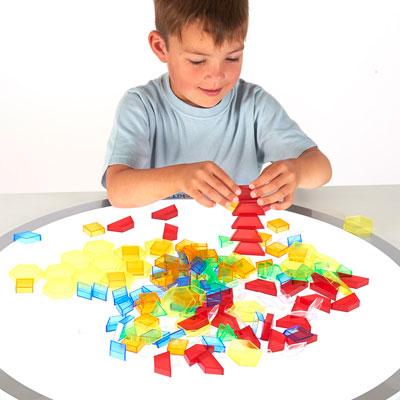 Translucent Hollow Pattern Blocks - Set of 180 - CD73093