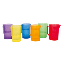 Translucent Colour Rainbow Jug Set - Set of 6