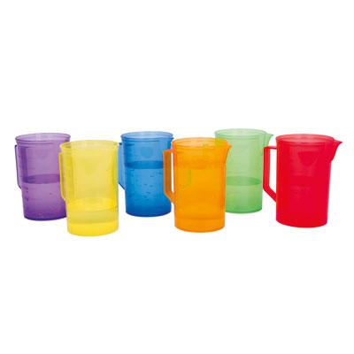 Translucent Colour Rainbow Jug Set - Set of 6 - CD73103