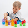 Translucent Colour Rainbow Pot Set - Set of 18 - CD73105