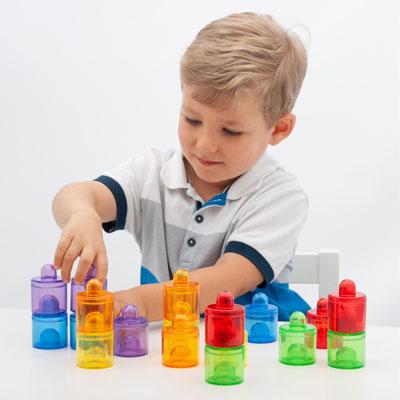 Translucent Colour Rainbow Pot Set - Set of 18 - CD73105