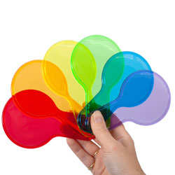 Translucent Colour Rainbow Paddles - Set of 6
