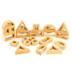 Mirror Block Set - Set of 24