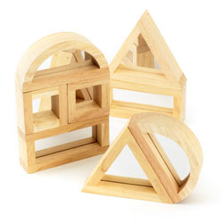 Large Mirror Block Set - Set of 8