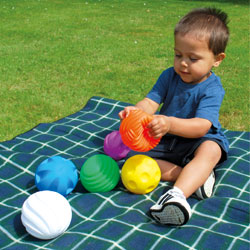 Coloured Tactile Balls - Set of 6