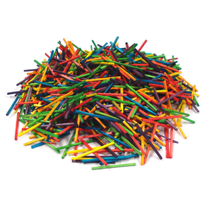 Coloured Wooden Matchsticks - Pack of 1000 - MB7063-1000