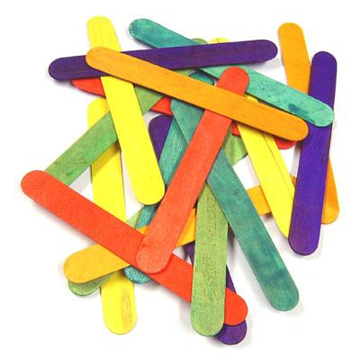 Coloured Lollipop Sticks - Large (150mm x 18mm) - Pack of 100 - MB7069-100