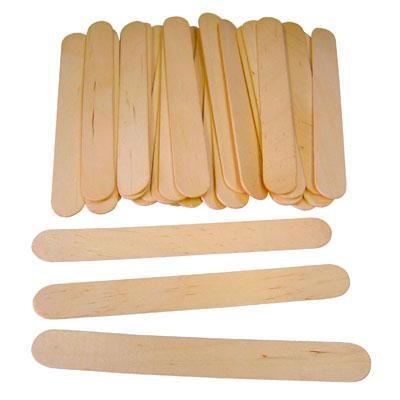 Plain Lollipop Sticks - Large (150mm x 18mm) - Pack of 100 - MB7067-100