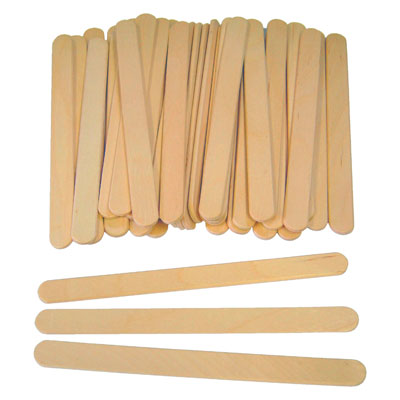 Plain Lollipop Sticks - Small (114mm x 10mm) - Pack of 1000 - MB7066-1000