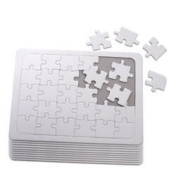 Blank Jigsaw Puzzles - Pack of 10
