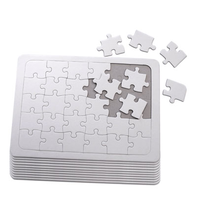 Blank Jigsaw Puzzles - Pack of 10 - MB7077-10