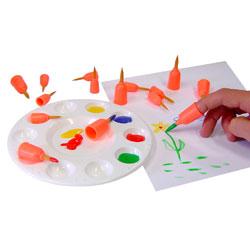 Finger Brushes - Assorted Sizes - Set of 20
