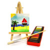 Mini Canvas with Easel - Pack of 10 - MB-CAN0303E-10